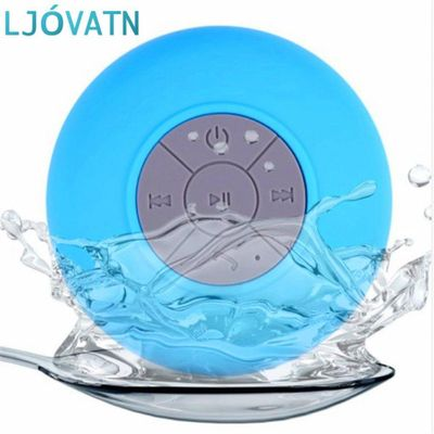 LJOVATN Mini Bluetooth Speaker Waterproof Shower TWS Wireless Portable Subwoofer With Sucker As Stand Support Hands-fre