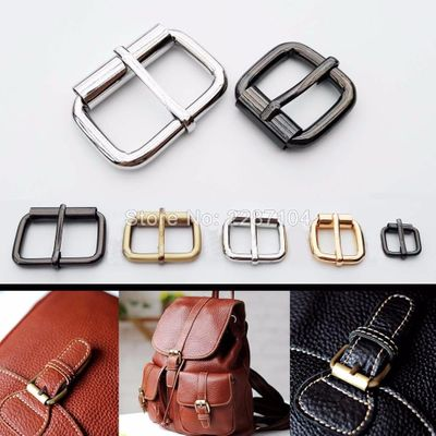2pc Metal Heavy Duty Hand Bag Shoe Strap Belt Web Adjust Roller Pin Buckle Snap Rectangle Ring Leather Craft Repair DIY Decor