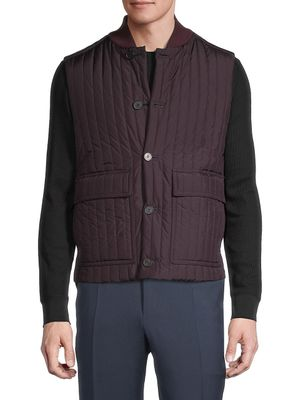 Canali Reversible Quilted Vest