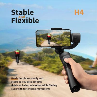 Smooth Smart Phone Stabilizing H4 Holder Handhold Gimbal Stabilizer for iPhone XS XR X 8Plus 8 7P 7 Samsung & Action Camera