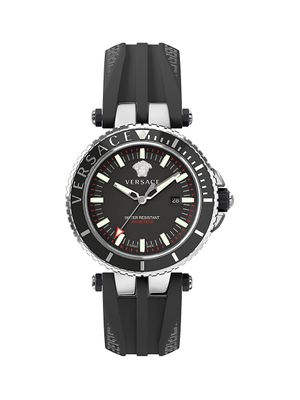 Versace V-Race Stainless Steel Diver Watch