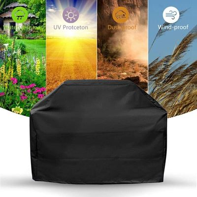 Black Waterproof BBQ Cover Accessories Grill Cover Anti Dust Rain Gas Charcoal Electric Barbeque Anti Dust Protector Free Ship
