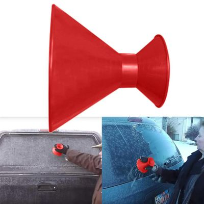 2pcs/set Remover Magic Snow Windshield Funnel Ice Scraper Shovel Cone Shaped Outdoor Winter Car Tool