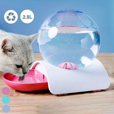 Fountain Bubble Large Drinking Bowl Pet Cat Dog Feeder Automatic Cats Water Fountain For Cat Pets Water Dispenser No Electricity