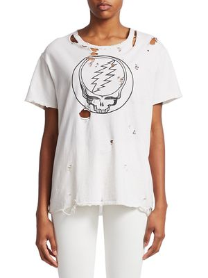 R13 Steal Your Face Distressed Tee