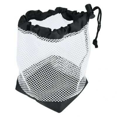 Durable Mesh Nets Bag Pouch Scuba Dive Gear Golf Tennis Balls Carrying Holder Storage Clip On Caddy Pouch Black accessories