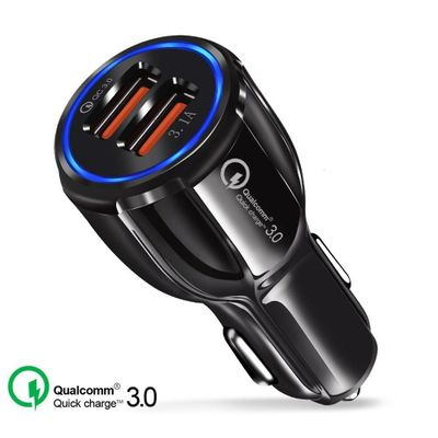 OHANEE Quick Charge 3.0 Charger QC 3.0 5V 9V 12V Dual USB Car Charge Fast Charger Mobile Phone Travel Adapter Accessories