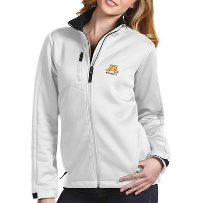 Minnesota Golden Gophers Antigua Women's Traverse Full-Zip Jacket - White