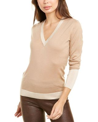 Les Copains V-Neck Wool Sweater