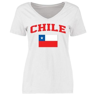 Chile Women's Flag T-Shirt - White
