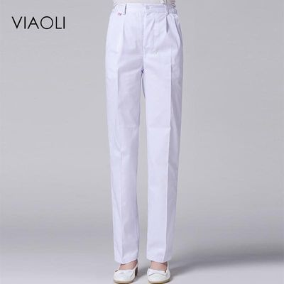 Viaoli Hospital Medical long Pants Fashionable Design Slim Fit Scrubs Beauty Salon Nurse work pants