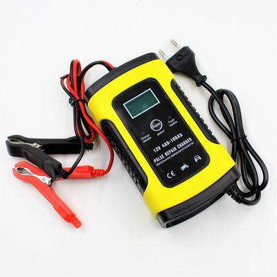 Automatic Smart 12V Car Battery Charger 5A With LCD Display With Auto Pulse Repair Function For AGM GEL Wet Lead Acid Russian