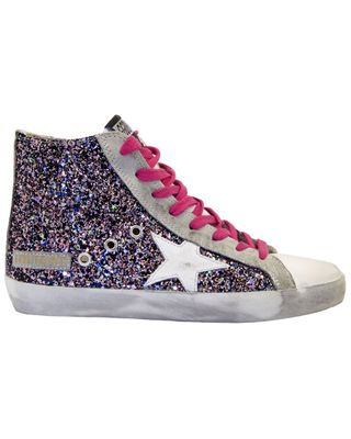 Golden Goose Francy Leather & Glitter Sneaker