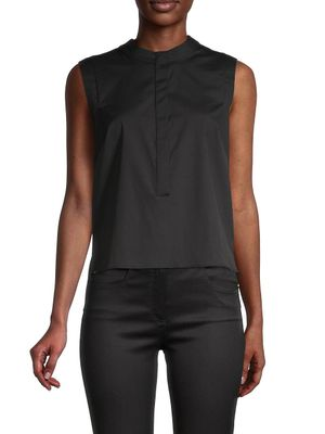 Milly Cotton-Blend Sleeveless Top