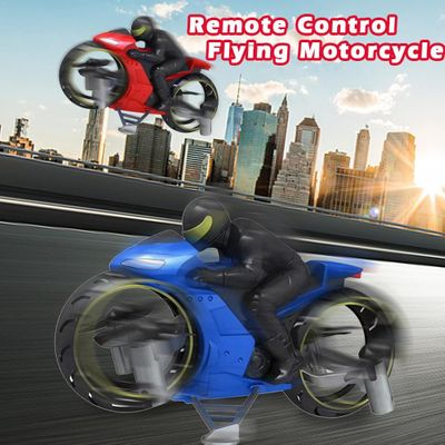 2 In 1 Remote Control Motorcycle Land And Air Dual Mode RC Motorcycle Rechargeable Stunt Flip Motorcycle Toy for kids