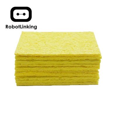 10Pcs Yellow Cleaning Sponge Cleaner for Enduring Electric Welding Soldering Iron