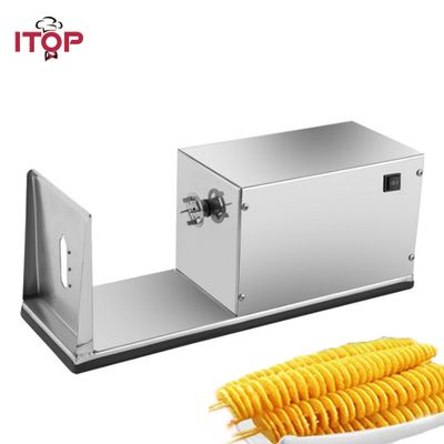 ITOP Electric French Fries Cutter Spiral Potato Machine Stainless Steel tornado Potato Cutter shredding Machine 110V/220V