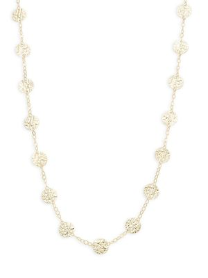 Saks Fifth Avenue Made in Italy 14K Gold Long Disc Station Necklace