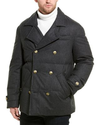 Brunello Cucinelli Quilted Wool-Blend Coat