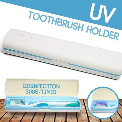 Portable Antibacteria Rechargeable UV Light Ultraviolet Toothbrush Automatic Toothpaste Dispenser Sterilizer Toothbrush Cleaner