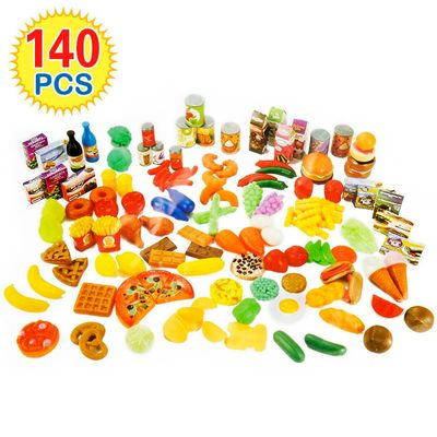 140Pcs Cutting Fruits Vegetables Pretend Play kids Kitchen Toys Miniature Safety Food Sets Educational Classic Toy for Children