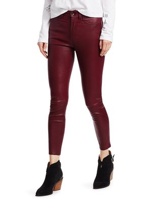 Rag & Bone Nina High-Rise Leather Ankle Skinny Jeans