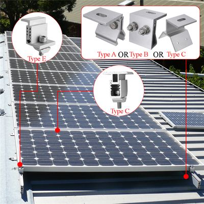 New 5 types Solar Panel Mounting Bracket Photovoltaic Support Single Stainless Steel Solar System Accessories for RV house  boat