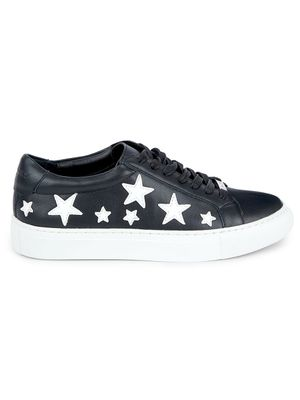 J/SLIDES Lapel Star Patch Leather Sneakers