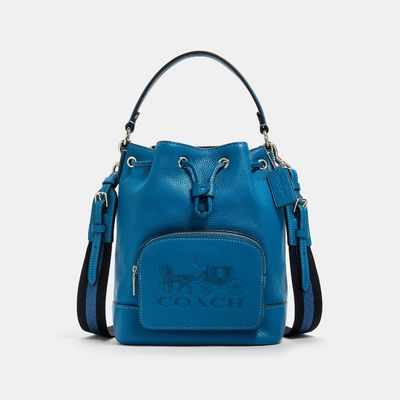 COACH Jes Drawstring Bucket Bag With Horse And Carriage