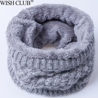 New Winter Scarf For Women Men Knitted Baby Ring Scarf Go Out Wrap Cowl Loop Snood Shawl Outdoor Ski Climbing Scarf Scarves