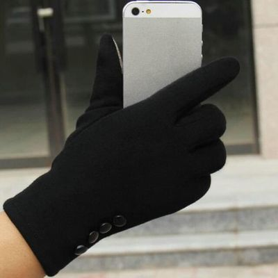 Fashion Womens Winter Outdoor Sport Warm Gloves female gloves Women Winter Warm Gloves High Quality Pure Color Gloves