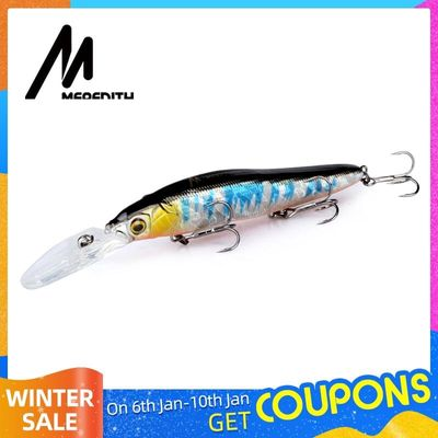 MEREDITH Minnow Wobbler Fishing Lures 110mm Artificial Hard Bait Depth 0-3m bait Jerk Bass Pike Baits Slow Sinking or Flaoting