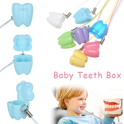 10Pcs New Colorful Baby Teeth Milk Teeth Box Children's Tooth Case Denture Accessories Dental Clinic Gift