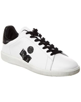 Isabel Marant Brownsy Logo Leather Sneaker