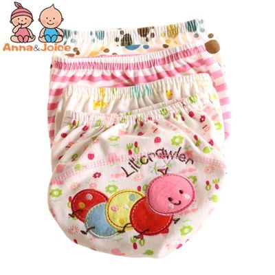30Pcs/lot  Baby Training Pant Baby Cartoon Underwear Cotton Learning/study Infant Pants Size 100 Suit 13--16kg