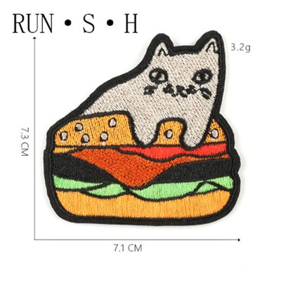 Cartoon Character Fun Cloth Stickers Animal Embroidery Processing Patch Badge Shoes Hat Luggage Accessories Embroidery Patch