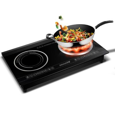 4800W Home Desktop High-power Embedded Double-head Induction Cooker Double Eye Cooker Waterproof Touch Panel