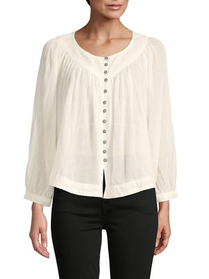Free People Roundneck Cotton Top