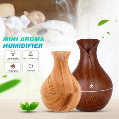 130ml USB Electric Aroma Air Diffuser Wood Ultrasonic Air Humidifier Essential Oil Aromatherapy Cool Mist Maker