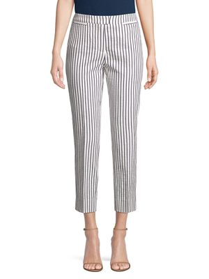 Piazza Sempione Brigitte Striped Capri Pants