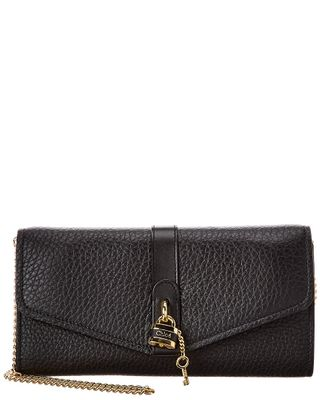 Chloe Aby Leather Wallet On Chain