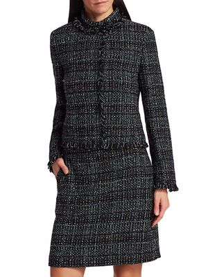 Akris punto Fringe-Trim Tweed Jacket