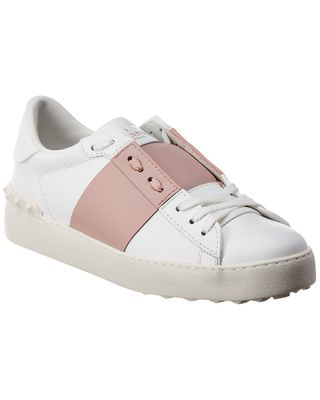 Valentino Open Leather Sneaker