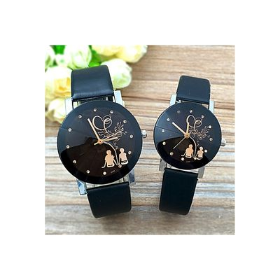 New Explosion Style Sleek Silhouette Couple Watch