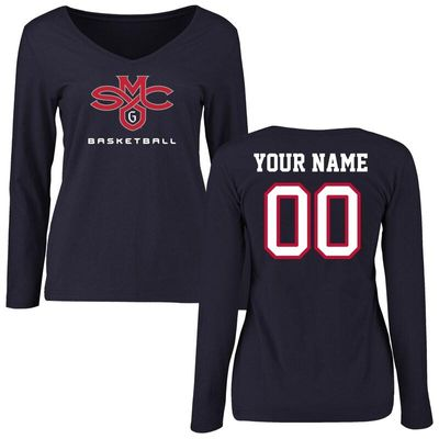Saint Mary's Gaels Women's Personalized Basketball Long Sleeve T-Shirt - Navy