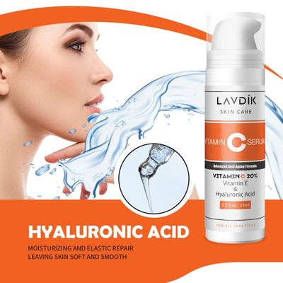 Face Serum Vitamin C E Serum Hyaluronic Acid Skin Care Moisturizing Whitening Anti-Aging Advanced Facial Essence Cosmetic
