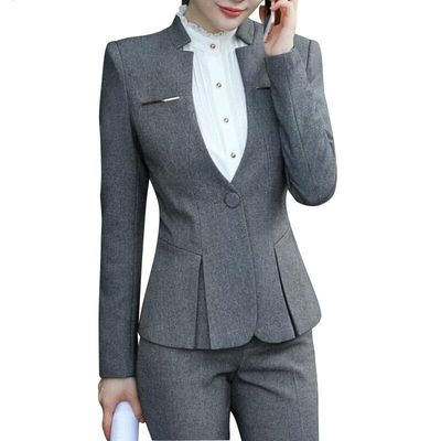 New Slim Suits, Women's, Wear Long Sleeved Work Office Blazer Suits For All Women Pants Costume Femme Traje Mujer Suit