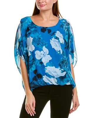 Vince Camuto Watercolor Melody Floral Top