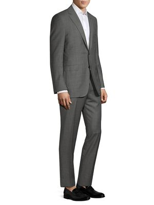 Canali Modern-Fit Grid Print Wool Suit