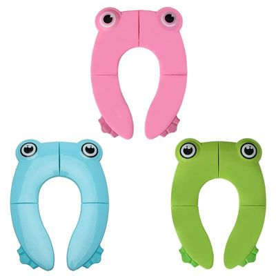 Foldable Potty Training Toilet Seat Cover Non Slip Easy to Clean Pads for Kids Training Toilet Seat Cover